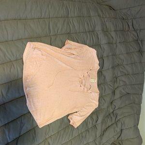 Pink quarter sleeve shirt